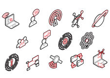 Illustration of info graphic connection icons set concept Royalty Free Stock Images