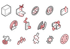Illustration of info graphic connection icons set concept Stock Photo
