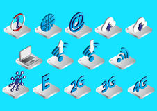 Illustration of info graphic connection icons set concept Royalty Free Stock Photography