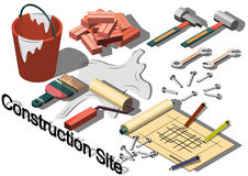 Illustration of info graphic construction site concept Royalty Free Stock Photography
