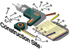 Illustration of info graphic construction site concept Royalty Free Stock Photos
