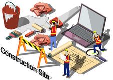 Illustration of info graphic construction site concept Royalty Free Stock Photo