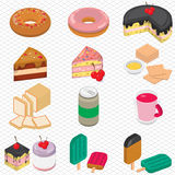 Illustration of info graphic dessert concept Stock Image