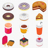 Illustration of info graphic dessert concept Royalty Free Stock Image