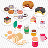 Illustration of info graphic dessert concept Stock Photography