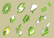 Illustration of info graphic eco icons set concept Royalty Free Stock Photography