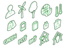 Illustration of info graphic eco icons set concept Stock Image