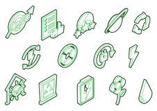 Illustration of info graphic eco icons set concept Stock Photo
