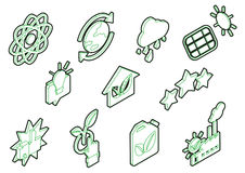 Illustration of info graphic eco icons set concept Royalty Free Stock Images