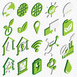 Illustration of info graphic eco icons set concept Royalty Free Stock Photos