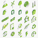 Illustration of info graphic eco icons set concept Stock Images