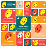 Illustration of info graphic emoticons icon concept Royalty Free Stock Photo
