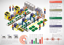 Illustration of info graphic factory equipment concept Royalty Free Stock Photos