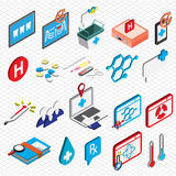 Illustration of info graphic hospital icons set concept. In isometric 3d graphic Royalty Free Stock Image