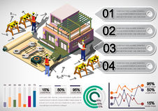 Illustration of info graphic house structure concept Royalty Free Stock Images