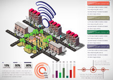 Illustration of info graphic house structure concept Royalty Free Stock Photos