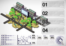 Illustration of info graphic house structure concept Stock Image