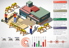 Illustration of info graphic house structure concept. In isometric graphic Royalty Free Stock Photo