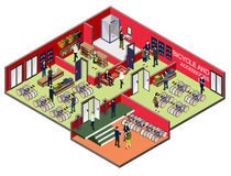 Illustration of info graphic interior  room concept Stock Images