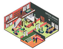 Illustration of info graphic interior  room concept Royalty Free Stock Photo