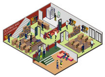 Illustration of info graphic interior  room concept Royalty Free Stock Images