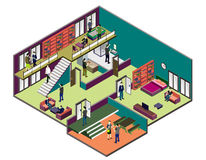 Illustration of info graphic interior  room concept Royalty Free Stock Image