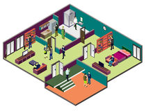 Illustration of info graphic interior  room concept Royalty Free Stock Photography