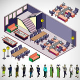 Illustration of info graphic interior room concept Stock Photo