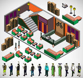 Illustration of info graphic interior room concept Stock Photography
