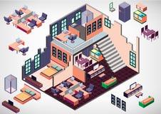 Illustration of info graphic interior room concept Stock Photo