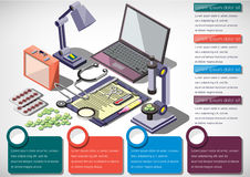 Illustration of info graphic medical concept Stock Photos