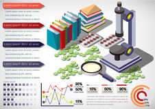 Illustration of info graphic medical concept Stock Images