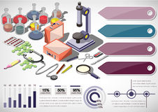 Illustration of info graphic medical concept Royalty Free Stock Photos
