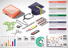 Illustration of info graphic medical concept Stock Image