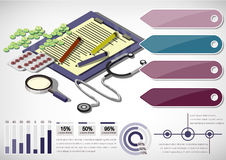 Illustration of info graphic medical concept Royalty Free Stock Photography