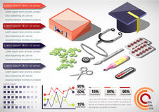 Illustration of info graphic medical concept Royalty Free Stock Images