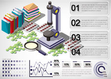 Illustration of info graphic medical concept Royalty Free Stock Image