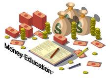 Illustration of info graphic money equipment concept Stock Photo