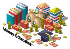 Illustration of info graphic money equipment concept Royalty Free Stock Image