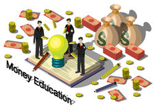 Illustration of info graphic money equipment concept Stock Images