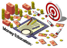 Illustration of info graphic money equipment concept Stock Photos