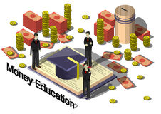 Illustration of info graphic money equipment concept Stock Photography