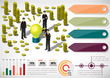 Illustration of info graphic money equipment concept Royalty Free Stock Photo
