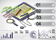 Illustration of info graphic money equipment concept Stock Photo
