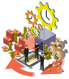Illustration of info graphic money management concept Stock Images