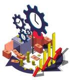 Illustration of info graphic money management concept Stock Photos