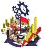 Illustration of info graphic money management concept Stock Image
