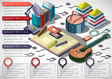 Illustration of info graphic music concept Royalty Free Stock Photography