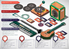 Illustration of info graphic music concept Royalty Free Stock Photos