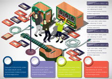 Illustration of info graphic music concept Stock Photography